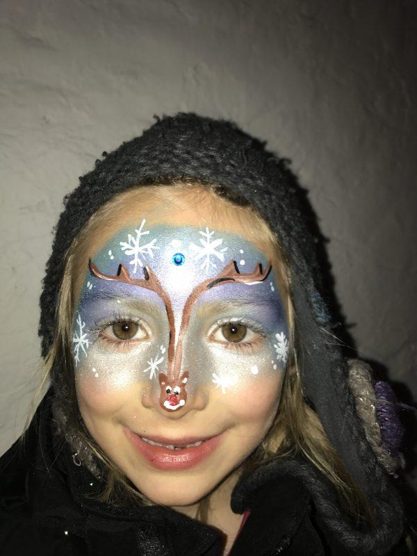 julmotiv ansiktsmålning