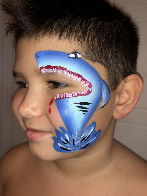 ansiktsmålning haj